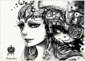 Zelda and Midna by Sui-yumeshima