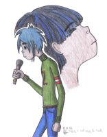 2D is singing for Noodle by AidaSechem