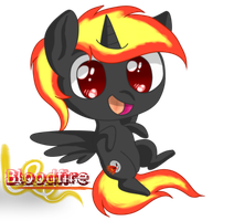 Gift - Chibi Bloodfire by AC-whiteraven