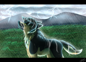 Standing in this Beautiful Storm by DarkWolfArtist