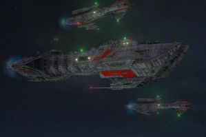 Destroyer and Frigates by Bodak1984