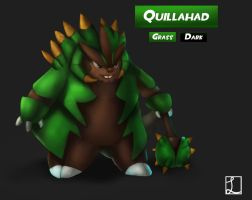Chespin final Evo concept- Quillahad by metalliam