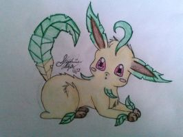 Leafeon Drawing Request by Miku-chan9