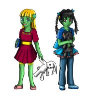 CxB Twins Clover and Belle by PriestessOfNox