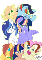 Mane 7 :  Friends alway be there for us by Yuki-ArtYT