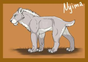 Nyima as sabertooth by Beast91