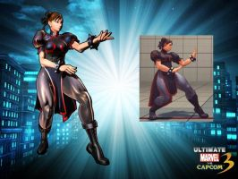 Chun Li Black MVC3UltimateA by ChrisNext