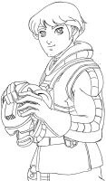 Lineart luke skywarker by dmtr1981