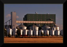 Grain Silos by Wytch1
