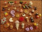 Polymer clay charms by VelvetNights