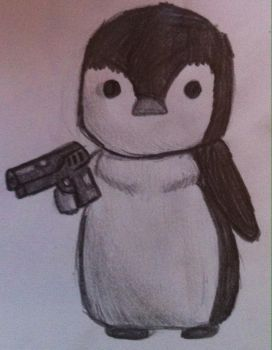 Hostile penguin by DRUMMER-GIRL02