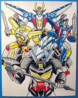 Brave Exkaiser - Max Team by JP-V