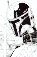 Boba Fett Inked by CliffEngland