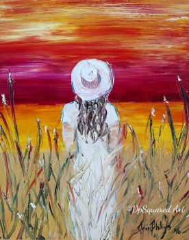 Girl Standing In Field by DpSquared