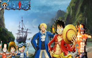 One Piece Brothers by evilgeniusartt