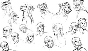 A collection of floating heads by TheScatterbrain