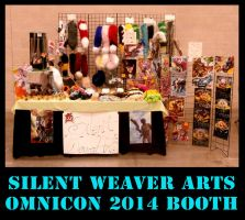 Silent Weaver Arts Booth :omnicon 2014: by MortaleRedWolf