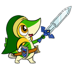 Chibi Snivy Link by Link8342