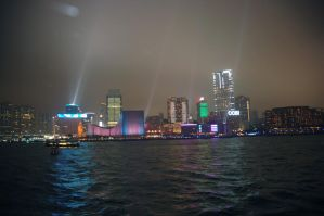 Hong Kong Lightshow by Malakhite