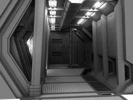 WIP Spaceship Interior v2, 09 by smudgedcat