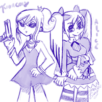 Francois and Alice with Honeusagi by tcgMinuet