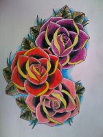 3 roses by Kirzten