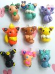 Eeveelutions Charm Set by kittyangelprincess