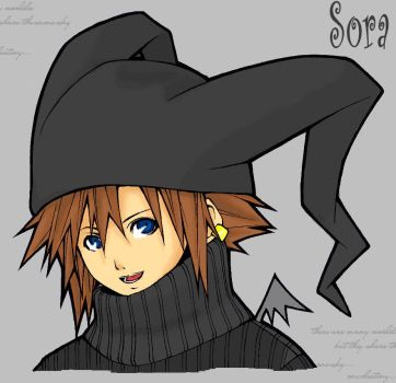 Sora -linearts by Jakuu by Shadows-in-Heart