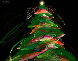 abstract christmas by tina1138