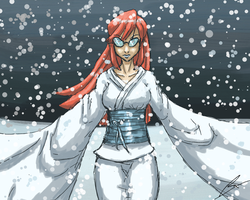 Lorelei as Yuki-Onna by borockman