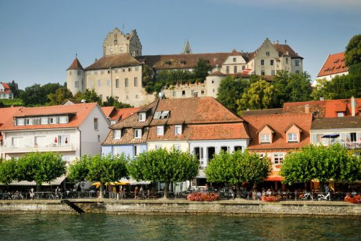 Meersburg from the Bodensee 2 by wildplaces