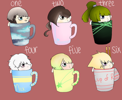 [Cup chibis] Set 1 [closed] by pandabutts