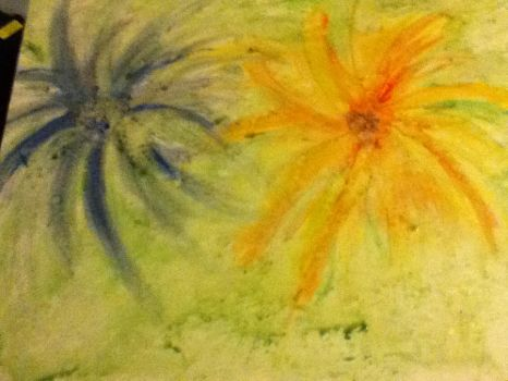 Abstract Flowers 2 by sesshylover28
