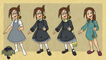 Chameleon Charm: Veronica Outfits by forte-girl7