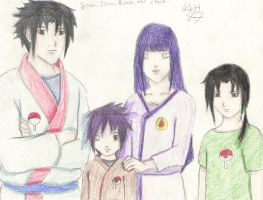 Hyuuga and Uchiha Family by KitsuneNoShinderu