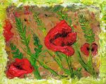 Poppy - Acryllic painting by Holly-Toadstool