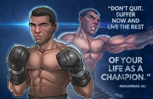 Muhammad Ali Tribute Piece with Quote by kpetchock