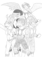 Mighty Morphin Anthro Rangers by Limpurtikles