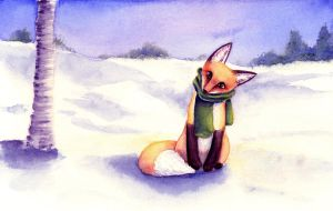 Scarf and Mittens by lokineko