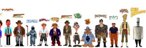Lucasarts Adventure Games - All protagonists by Salvini