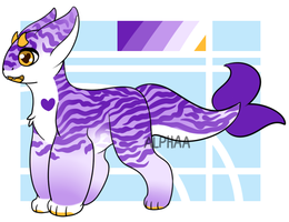 Purple Zebra! [Goatfish Adopt] [CLOSED] by AlphaaCrest
