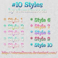 Dotted Styles -1- by eternallmoon