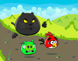 Hungry Cats ( Angry Birds ) by nefertiset