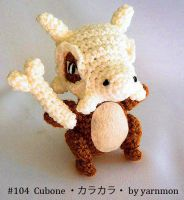 Cubone Pokemon Amigurumi by yarnmon