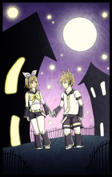 Kagamine Rin and Len by Voodoo--Dolly