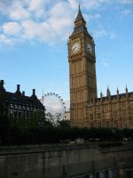 Big Ben and the London Eye by Jezhawk-stock