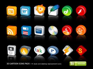 3D Cartoon Icons Pack by deleket Icon, Icons and more Icons