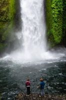 In the Mists Below Wahclella Falls by AFL