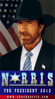 Chuck Norris for President by TheStaticCling