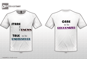 STARE TALK CARE meanings by totilitot